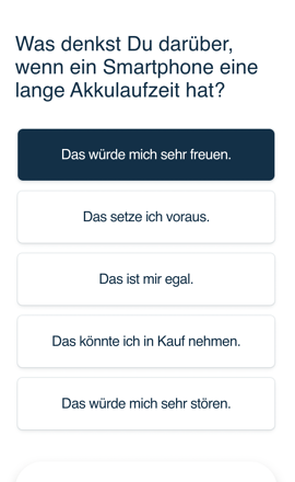 Kano Methode funktionale Beispielfrage